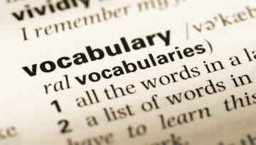 Vocabulary for challenging times